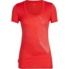 Icebreaker Tech Lite Plume t-shirt Dames rood
